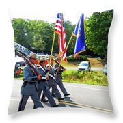 New York State Police Color Guard  6 Throw Pillow