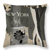New York Style I Throw Pillow
