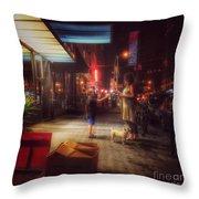 New York Summer Nights Throw Pillow