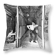 New York: Telephone, 1891 Throw Pillow