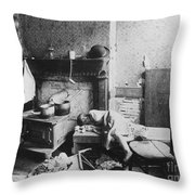 New York: Tenement Life Throw Pillow