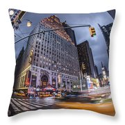 New York Time Square  Throw Pillow