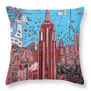 New York Urban Colors 2 Throw Pillow