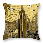 New York Urban Colors 3 Throw Pillow