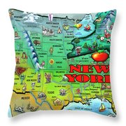 New York Usa Throw Pillow