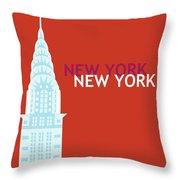 New York Vertical Scene - Chrysler Building Throw Pillow