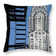 New York Watercolor 3 Throw Pillow