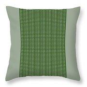 New York - White On Green Background Throw Pillow