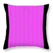 New York - White On Pink Background Throw Pillow
