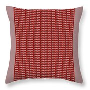 New York - White On Red Background Throw Pillow