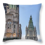 New York Woolworth Building  Throw Pillow