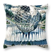 New York World's Fair Throw Pillow