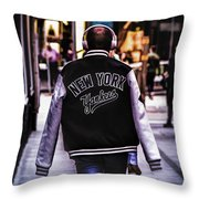 New York Yankees Baseball Jacket Throw Pillow