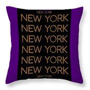 New York No 3  Throw Pillow