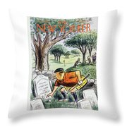 New Yorker August 22 1959 Throw Pillow