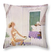 New Yorker August 6 1955 Throw Pillow