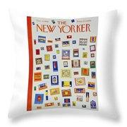 New Yorker December 13 1958 Throw Pillow