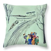 New Yorker February 1 1958 Throw Pillow