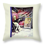 New Yorker February 11 1950 Throw Pillow