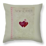 New Yorker February 16 1952 Throw Pillow