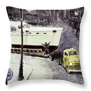 New Yorker January 14 1956 Throw Pillow