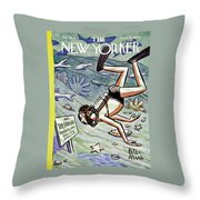 New Yorker January 28 1956 Throw Pillow