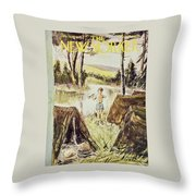 New Yorker July 11 1959 Throw Pillow
