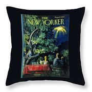 New Yorker July 2 1960 Throw Pillow