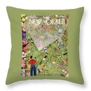 New Yorker June 13 1953 Throw Pillow