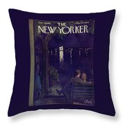 New Yorker June 28 1958 Throw Pillow