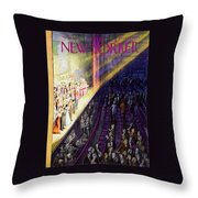 New Yorker March 10 1956 Throw Pillow