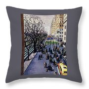 New Yorker March 14 1953 Throw Pillow