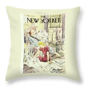 New Yorker March 21 1953 Throw Pillow