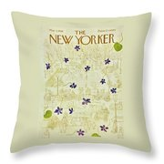 New Yorker May 3 1958 Throw Pillow