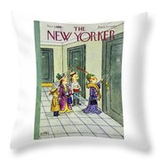 New Yorker November 1 1958 Throw Pillow
