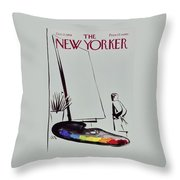 New Yorker October 17 1959 Throw Pillow
