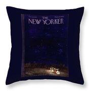 New Yorker October 29 1955 Throw Pillow