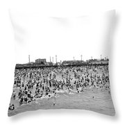 New Yorkers At Coney Island. Throw Pillow