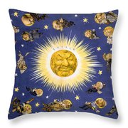 New York's New Solar System Vintage Poster 1898 Throw Pillow