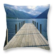 New Zealand Dock Throw Pillow