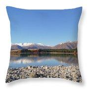 New Zealand Lake Throw Pillow