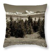 New Zealand Mountains Throw Pillow
