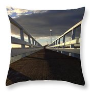 New Zealand - Orakei Wharf Throw Pillow