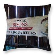 Newark Bisons Throw Pillow