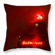 Newark Budweiser Throw Pillow