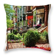 Newberry Street Spring Throw Pillow