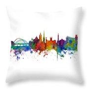 Newcastle England Skyline Custom Panoramic Throw Pillow