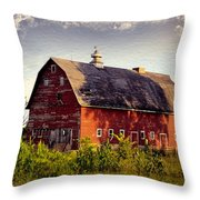 Newell Ave Barn Throw Pillow