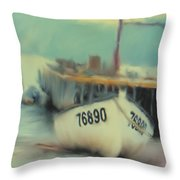 Newfoundland Fishing Port Impressions Throw Pillow