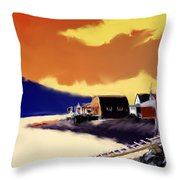 Newfoundland Fishing Shacks Throw Pillow